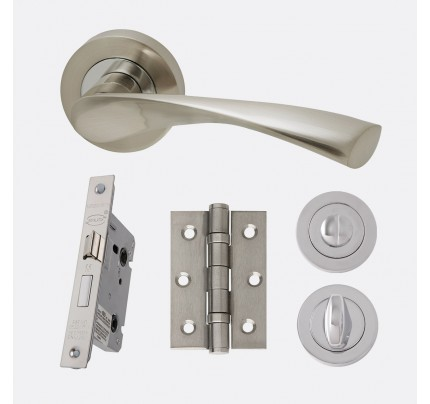 LPD Solar Polished Chrome & Satin Nickel Privacy  Handle Pack