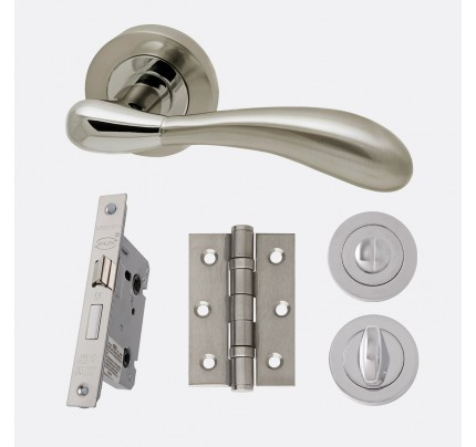 LPD Venus Polished Chrome & Satin Nickel Privacy Handle Pack