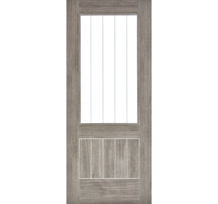 LPD Mexicano Glazed Light Grey Internal Laminated Internal Doors