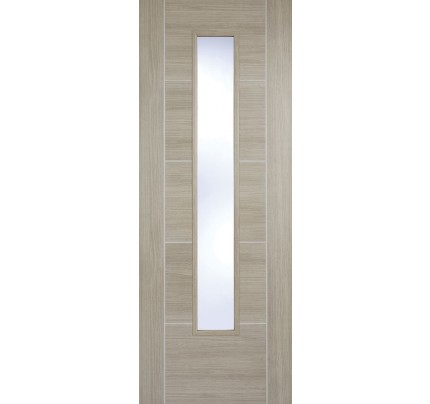 LPD Vancouver Light Grey Glazed Laminate Pre-finished Internal Door