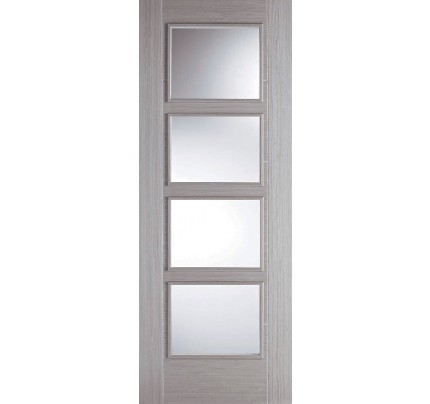 LPD Vancouver 4L Light Grey Glazed Fire Check Pre-Finished Internal Door