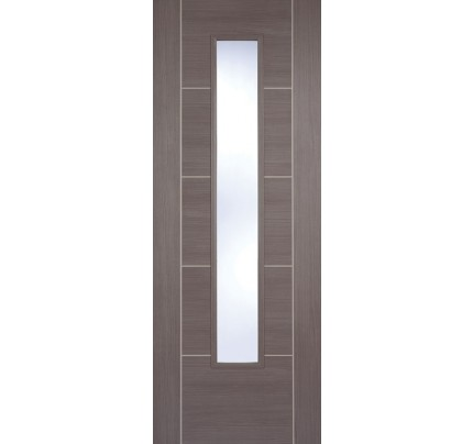 LPD Vancouver Medium Grey Glazed Laminate Pre-finished Internal Door