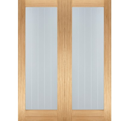 LPD Mexicano Pattern 10 Glazed Pairs Unfinished Door