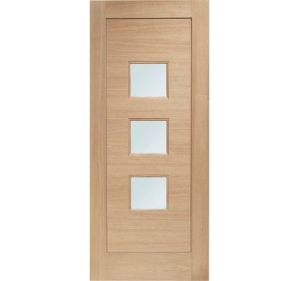 XL Joinery Turin Double Glazed External Oak Door with Obscure Glass