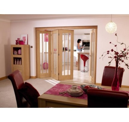 LPD 2816 Nuvu Roomfold Int Oak Frame Set 3+1