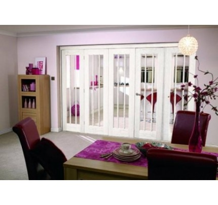 LPD 3502 Nuvu Roomfold Int Oak Frame Set 4+1