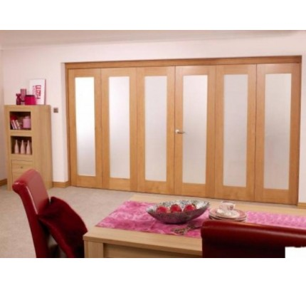 LPD 4188 Nuvu Roomfold Int Oak Frame Set 3+3