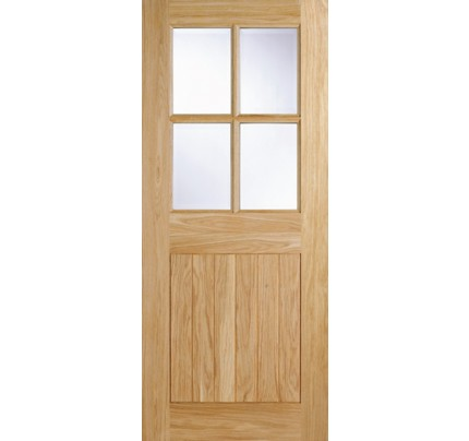 LPD Cottage 4L Oak Clear Double Glazed External door