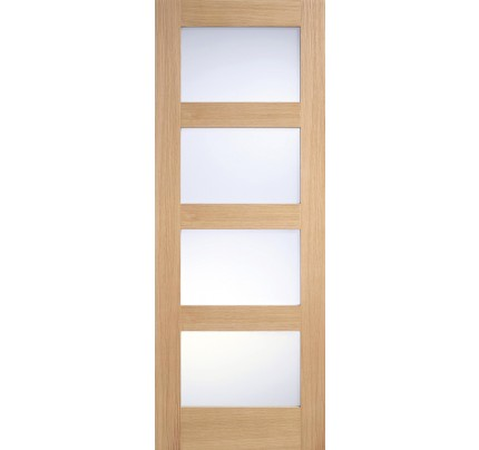 LPD Contemporary Frosted Glazed Pre-Finished Oak Internal Door