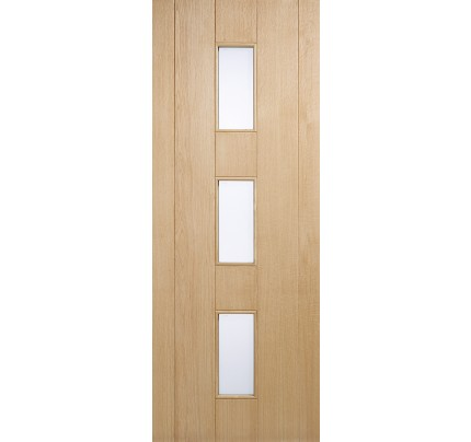LPD Copenhagen Oak Glazed Un-Finished External Door