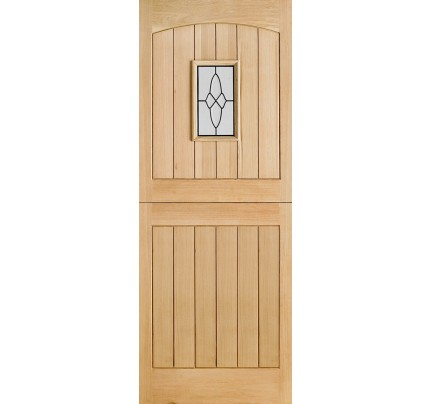 LPD Cottage Stable 1L Oak Glazed Un-Finished External Door