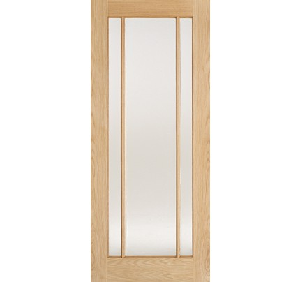 LPD Lincoln 3L Clear Glass Internal Oak Internal Doors