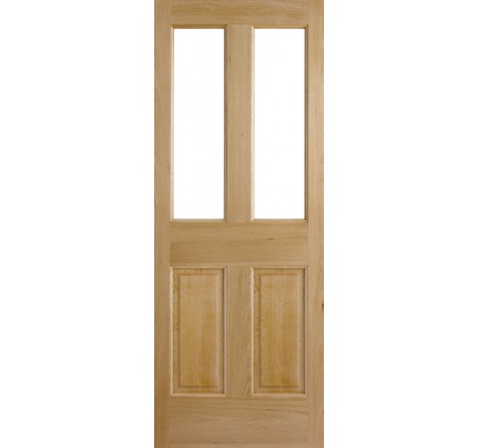 LPD Malton 2P/2L Oak Unglazed Un-Finished External Door