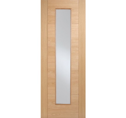 LPD Vancouver Long Light Glazed Pre-Finished Oak Internal Fire Door