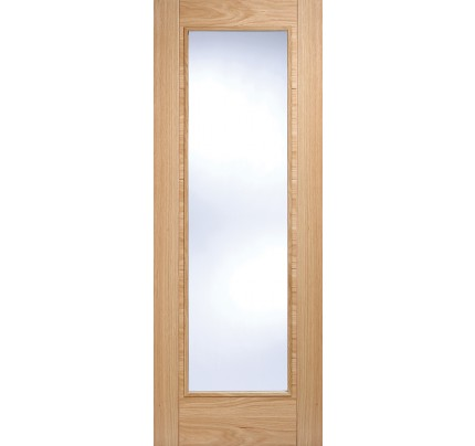 LPD Vancouver Pattern 10 Oak Glazed Pre-Finished Internal Fire Door
