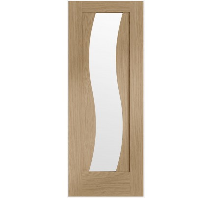 XL Joinery Florence Pre-finished Oak Door with Clear Glass