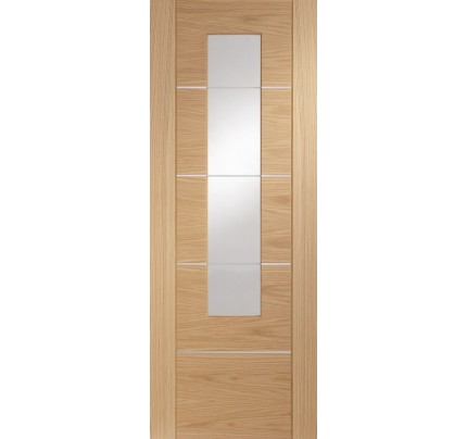 XL Joinery Portici Pre-Finished Internal Oak Door with Clear Glass