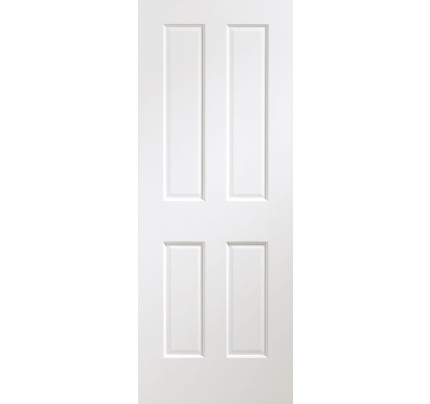 XL Joinery Victorian Pre-Finished Internal White Door with Non Raised Mouldings