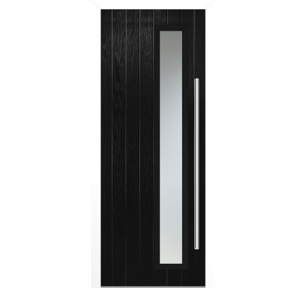 LPD Shardlow Black Pre-Finished Composite External Door Set (Right Hand)