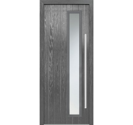 LPD Shardlow Grey Pre-Finished Composite External Door Set (Left Hand)