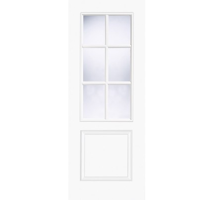 LPD Bruges 6L White Moulded Smooth Internal Doors