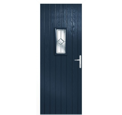 LPD Speedwell Blue Pre-Finished Composite External Door Set (Left Hand)