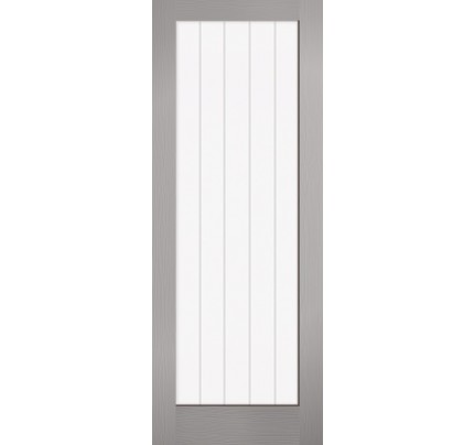 LPD White Moulded Textured Vertical 1L Internal Doors