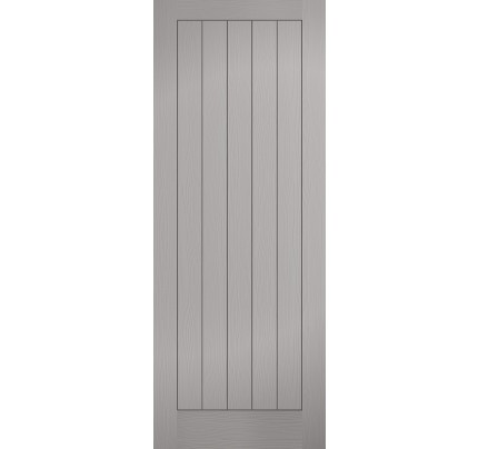 LPD Vertical 5p Grey Moulded Textured Hollow Core Internal Doors