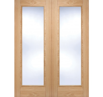 LPD Vancouver Pattern 10 Glazed Pairs Pre-Finished Oak Internal Door