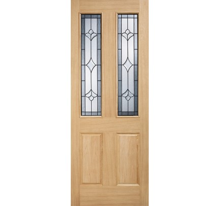 LPD Salisbury Oak Glazed Un-Finished External Door