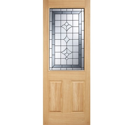LPD Winchester Oak Glazed Un-Finished External Door