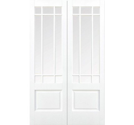 LPD Downham Pair Internal White Primed French Pairs & Room Dividers