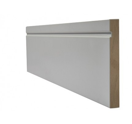 LPD White Primed Skirting Single Groove Internal Frames & Mouldings