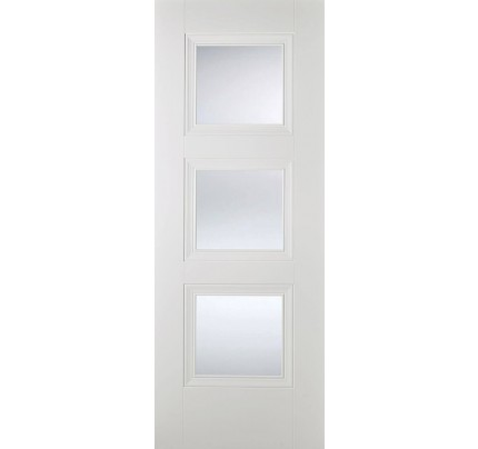 LPD Amsterdam Glazed White Primed Internal Door