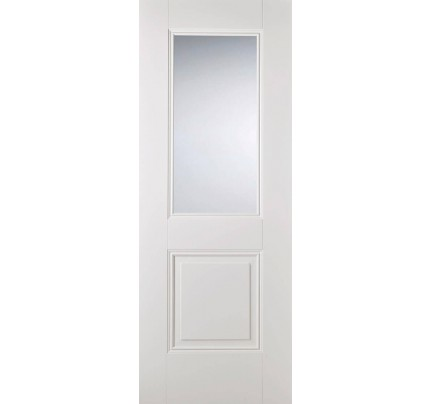LPD Arnhem Glazed White Primed Internal Door
