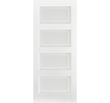 LPD Contemporary 4L Glazed Primed White Solid Internal Door