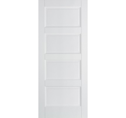 LPD Contemporary 4P Solid White Primed Internal Fire Door
