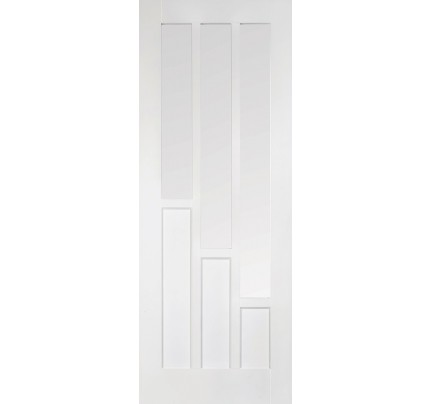 LPD Coventry 3L White Solid Primed Clear Glazed Door