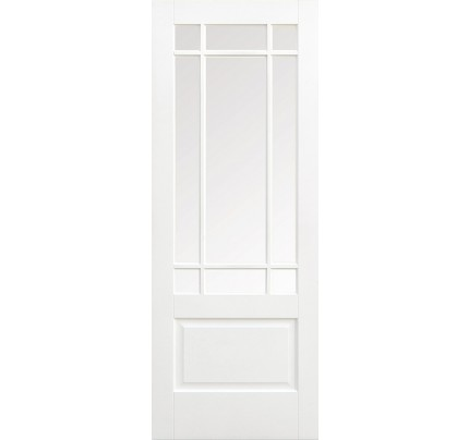 LPD Downham Glazed Primed Solid White Internal Door