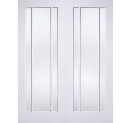 LPD Lincoln Glazed Pairs White Primed Internal Door