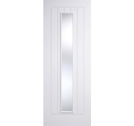 LPD Mexicano Glazed White Primed Solid Internal Door