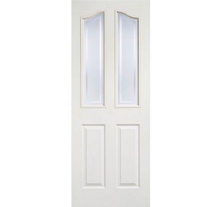 LPD Mayfair 2P/2L Glazed White Moulded Internal Door