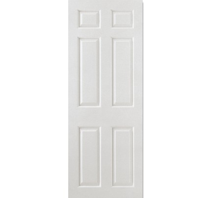 LPD Smooth 6P Square Top White Moulded Internal Fire Door