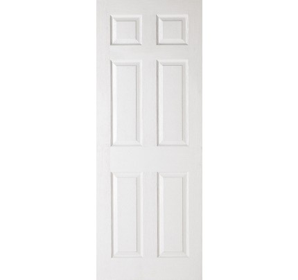 LPD Textured 6P White Moulded Internal Doors