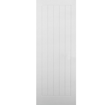 LPD Textured Vertical 5P White Moulded Internal Doors