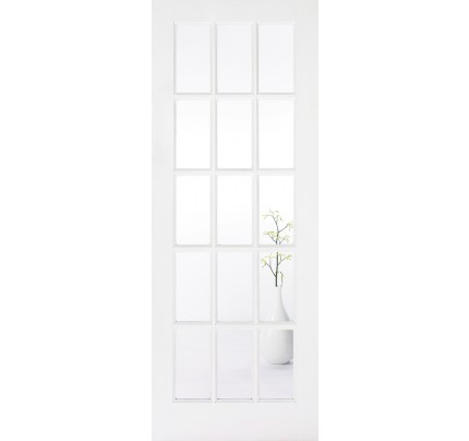 LPD SA 15L Glazed Primed Solid White Internal Door