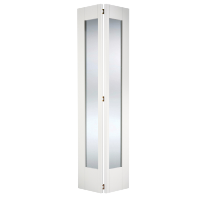 LPD Shaker Glazed Bi-Fold White Primed Internal Door