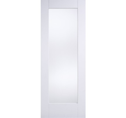 LPD Shaker Clear Glazed White Solid Internal Door