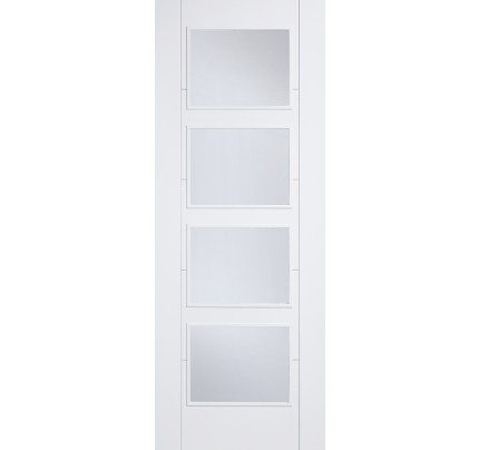 LPD Vancouver 4L Glazed White Solid Primed Internal Door