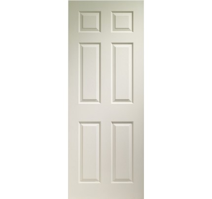XL Joinery Colonist 6 Panel Internal White Moulded Fire Door